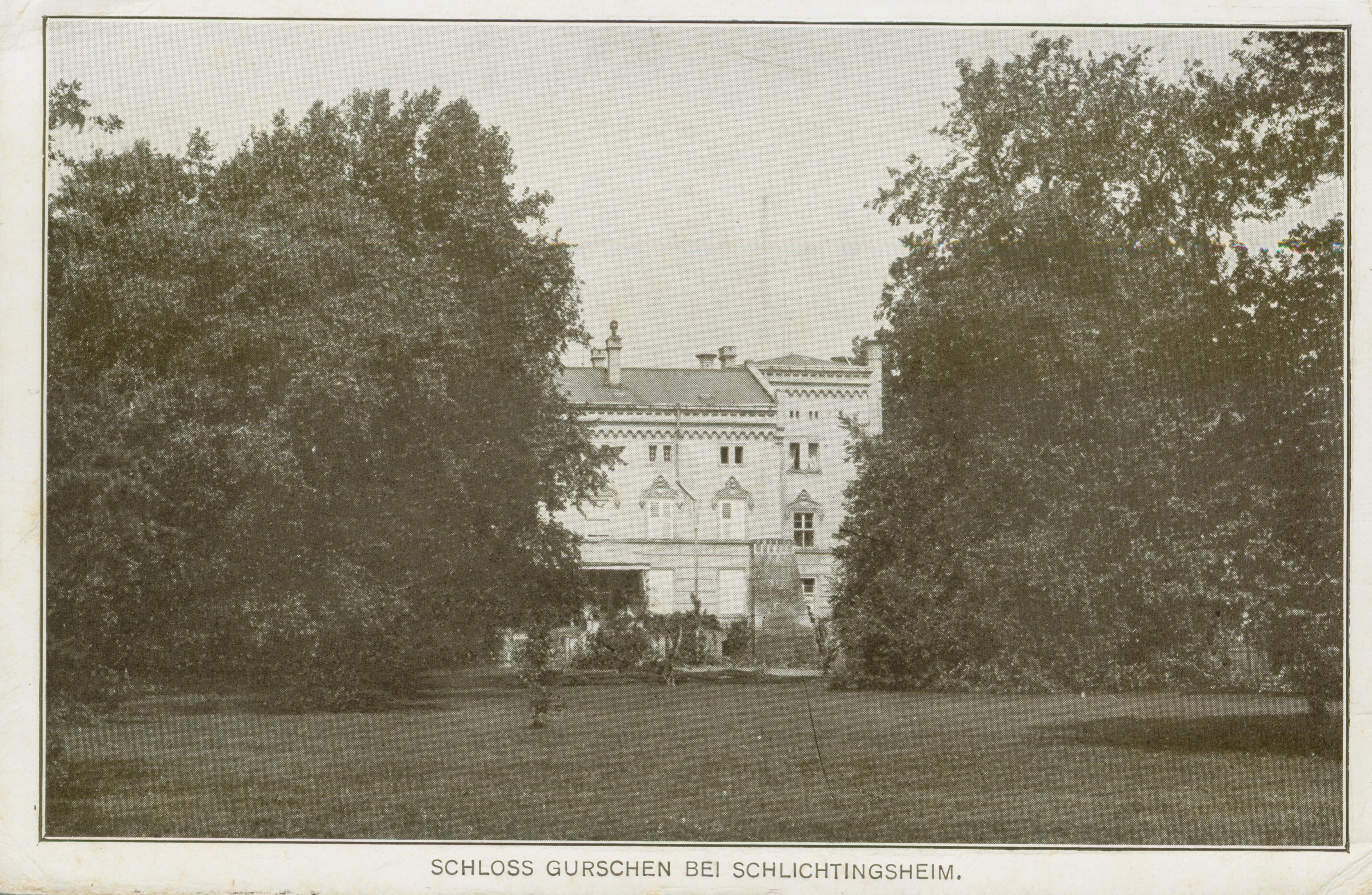 Górczyna- widok pałacu od strony parku
