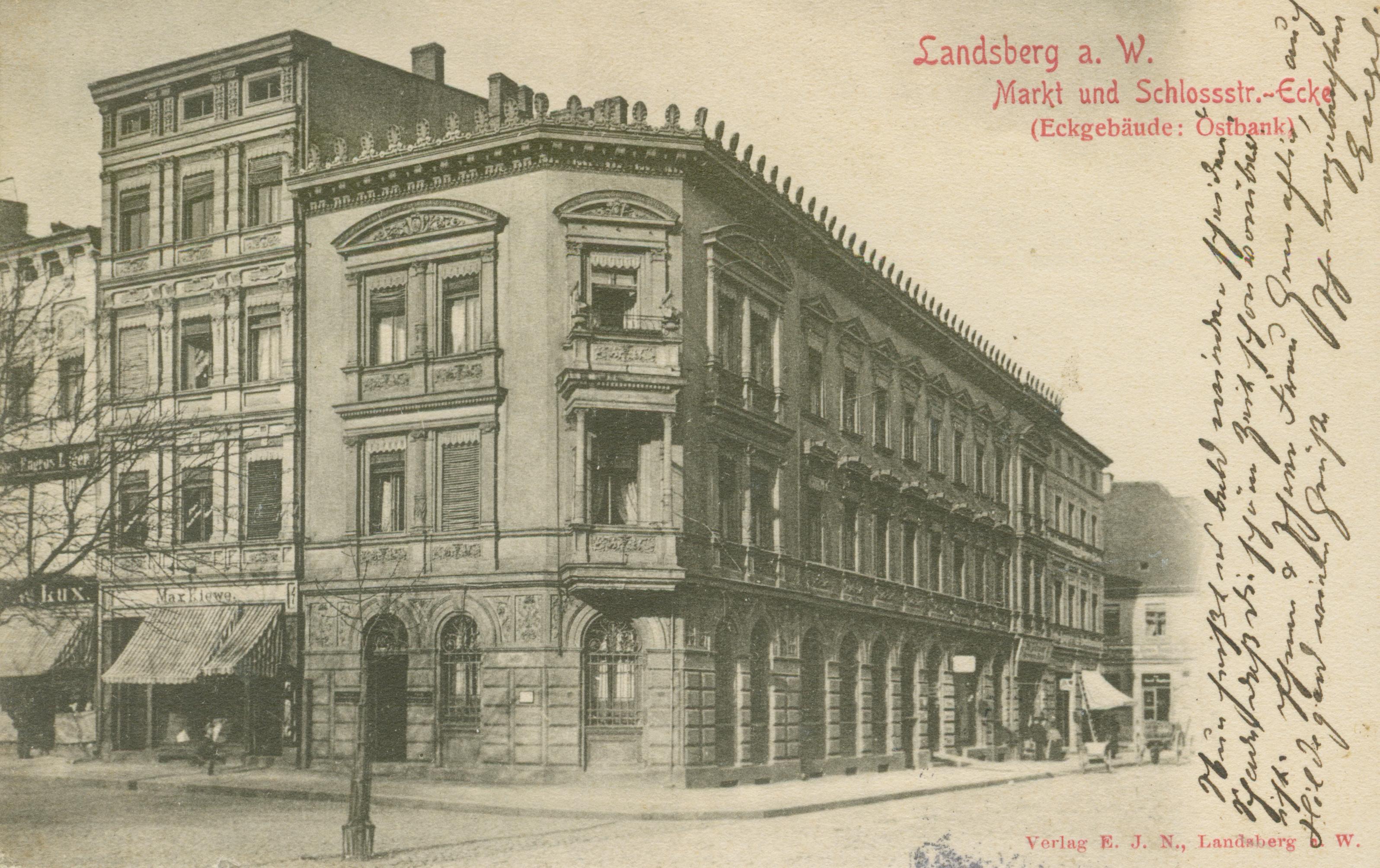 Gorzów Wlkp.- róg ul Zamkowej i Ecke