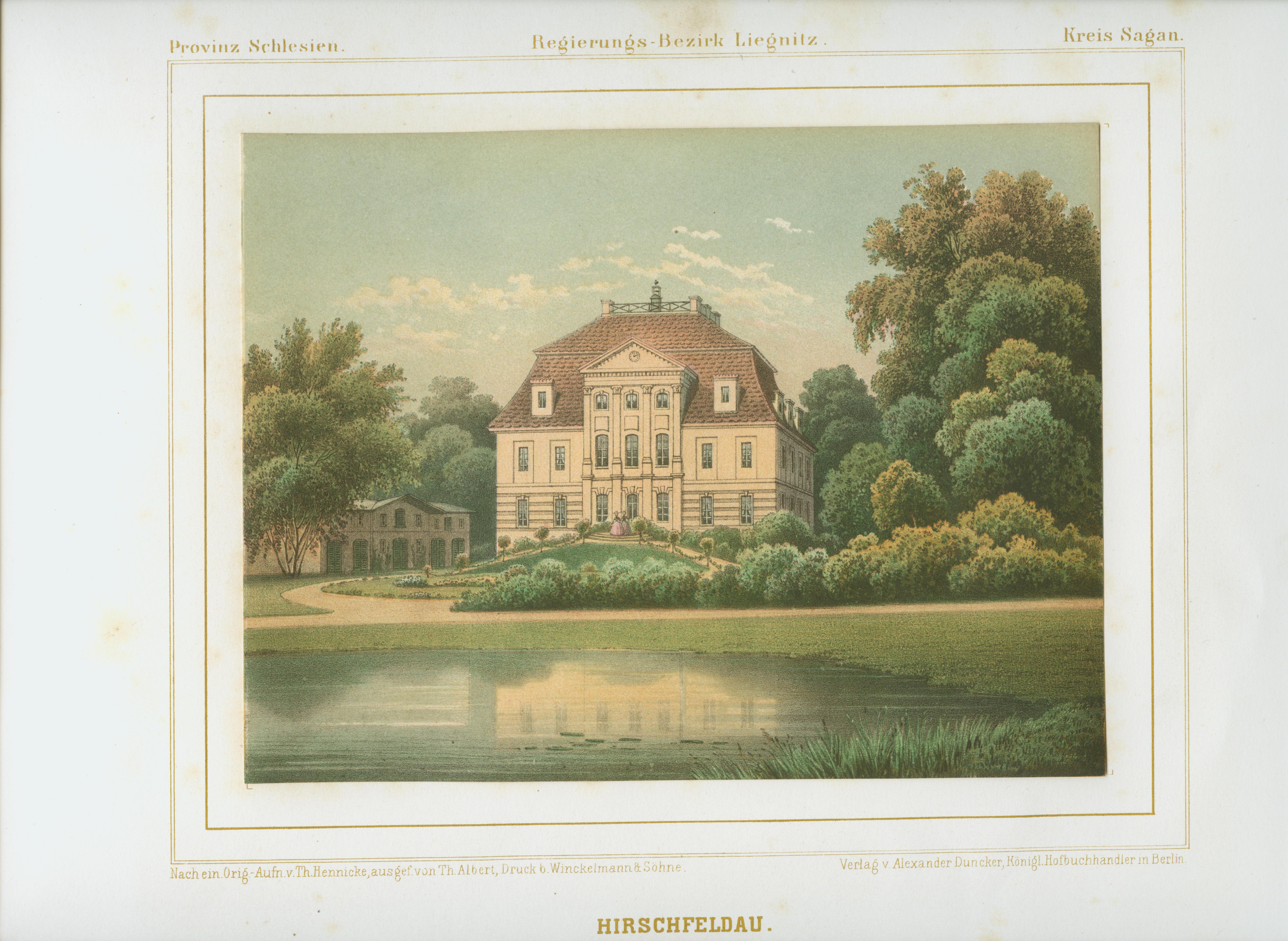 Jelenin- pałac wg Dunckera