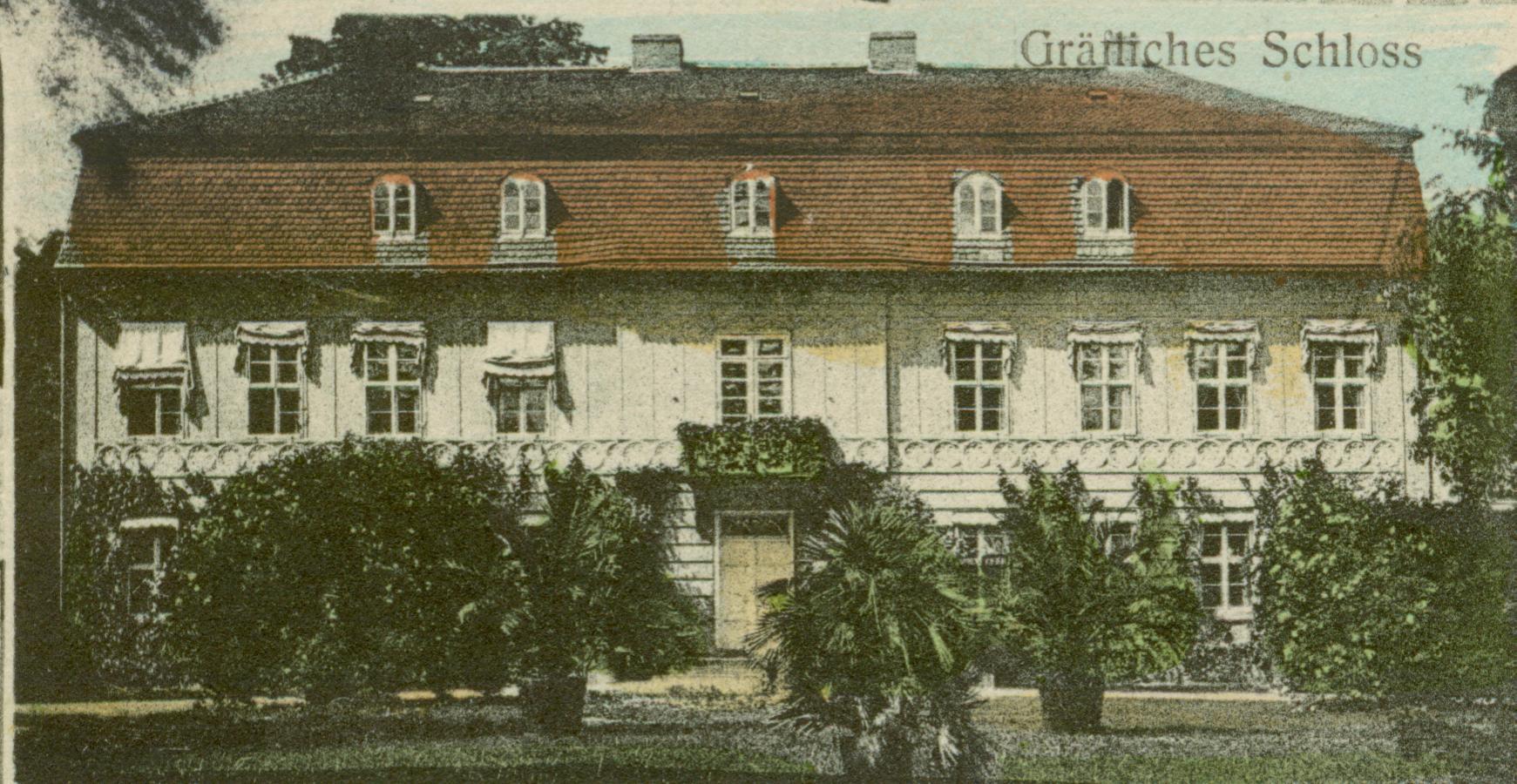 Kamień Wielki- pałac od frontu
