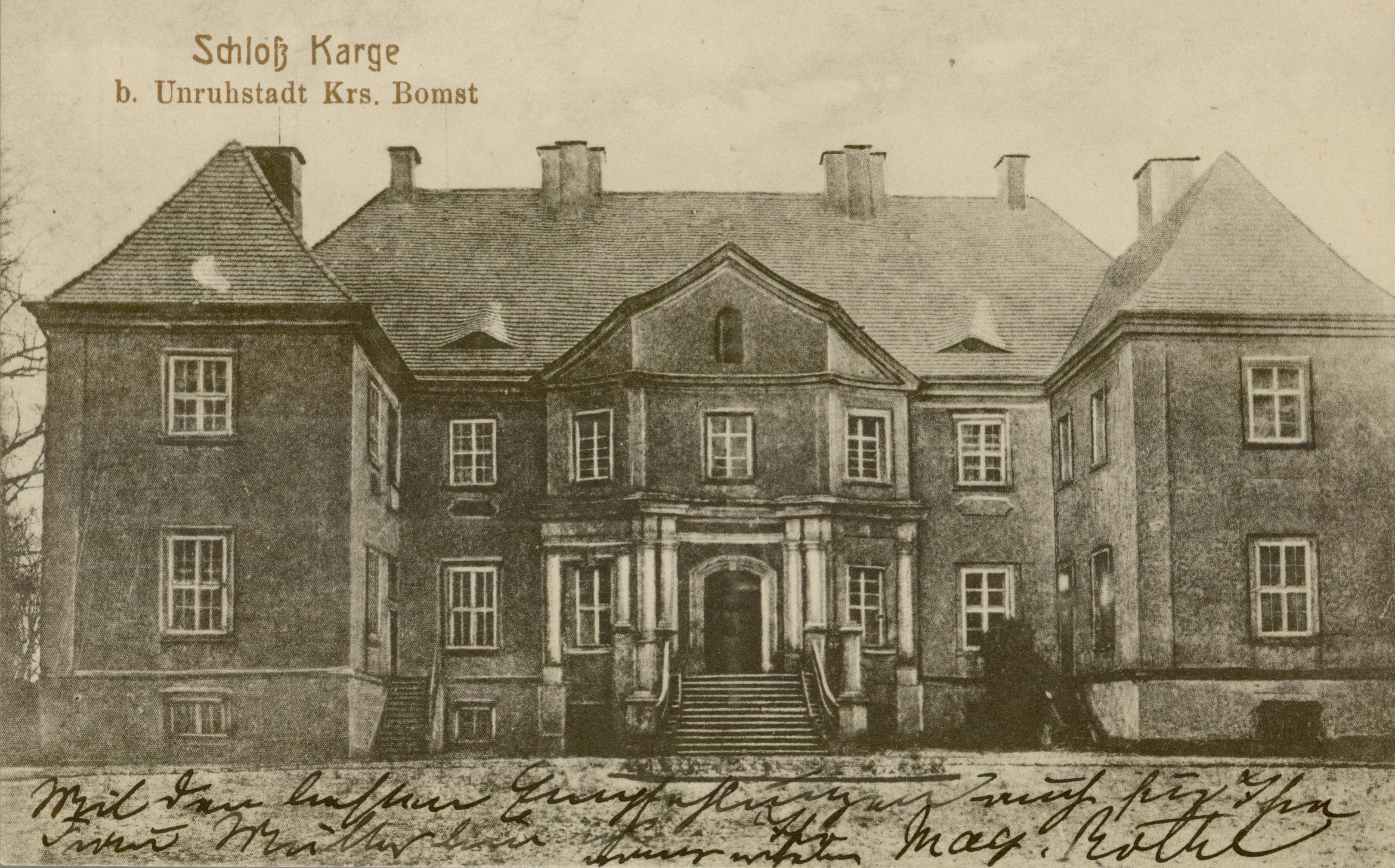 Kargowa- pałac od frontu