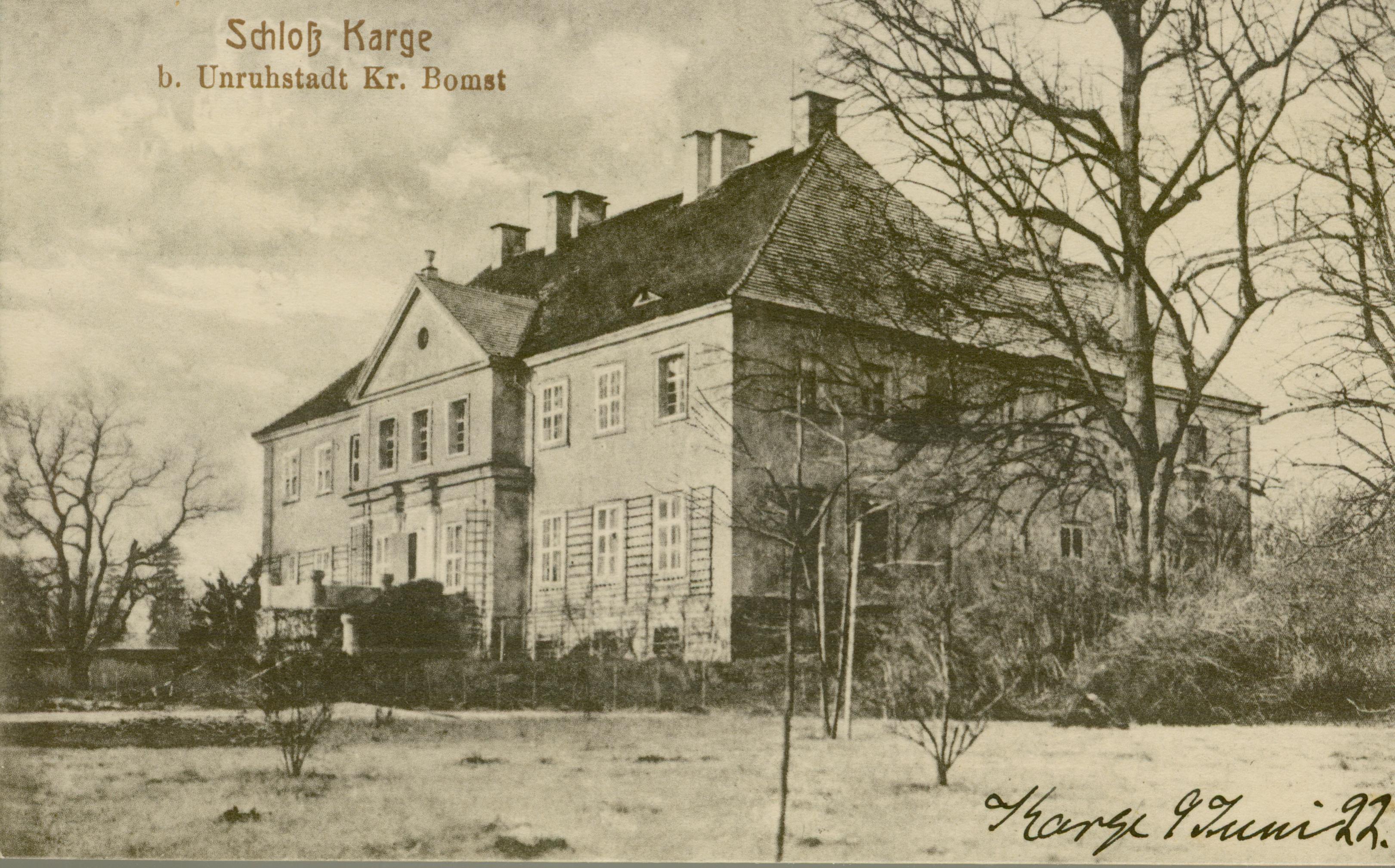 Kargowa- pałac od ogrodu