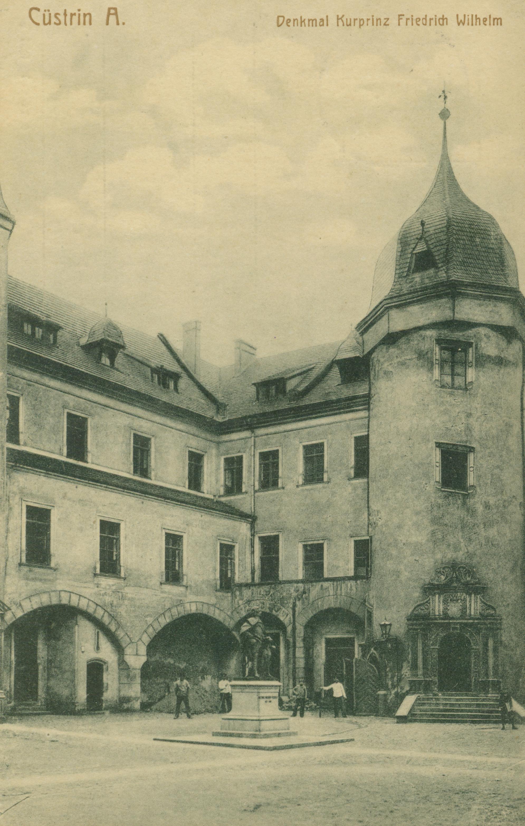 Kostrzyn-dziedziniec zamku, lubuskie