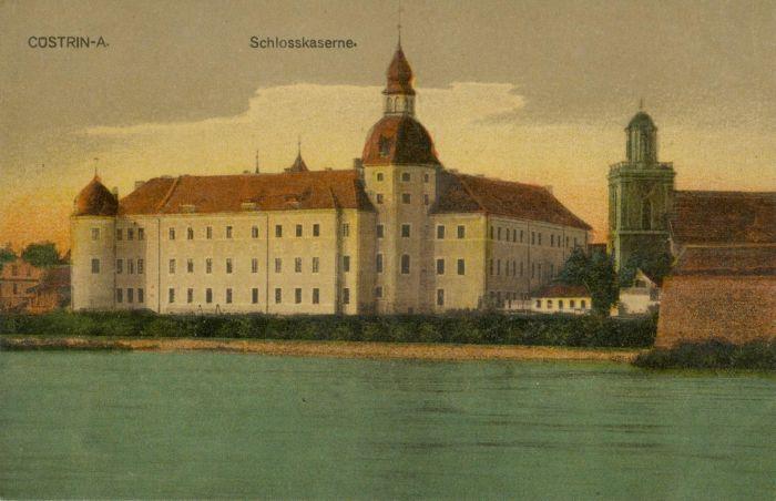 Kostrzyn-zamek od strony niemieckiej