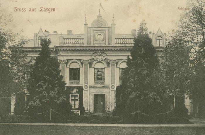 Laski Odrzańskie-pałac przezd przebudową