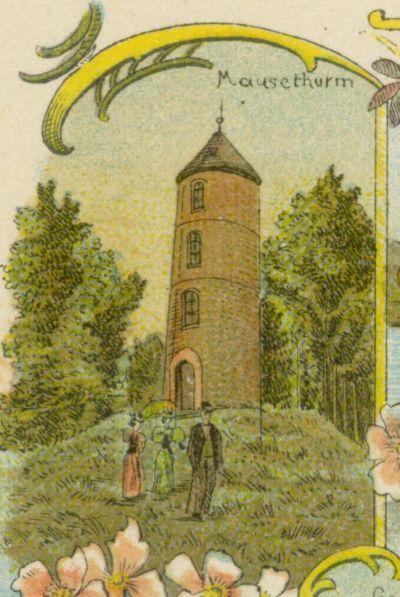 Lubniewice- wieza stojaca na miejscu Bialego Zamku