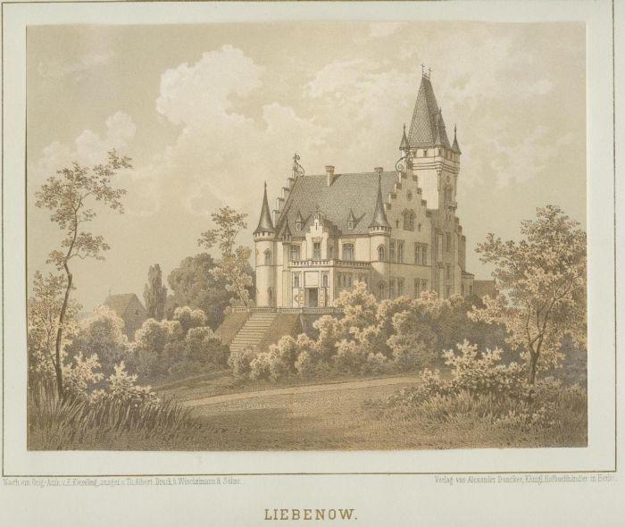 Lubno- widok palacu wg Dunckera