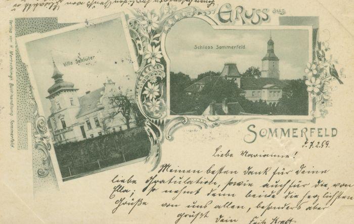 Lubsko - zamek oraz willa Schluter