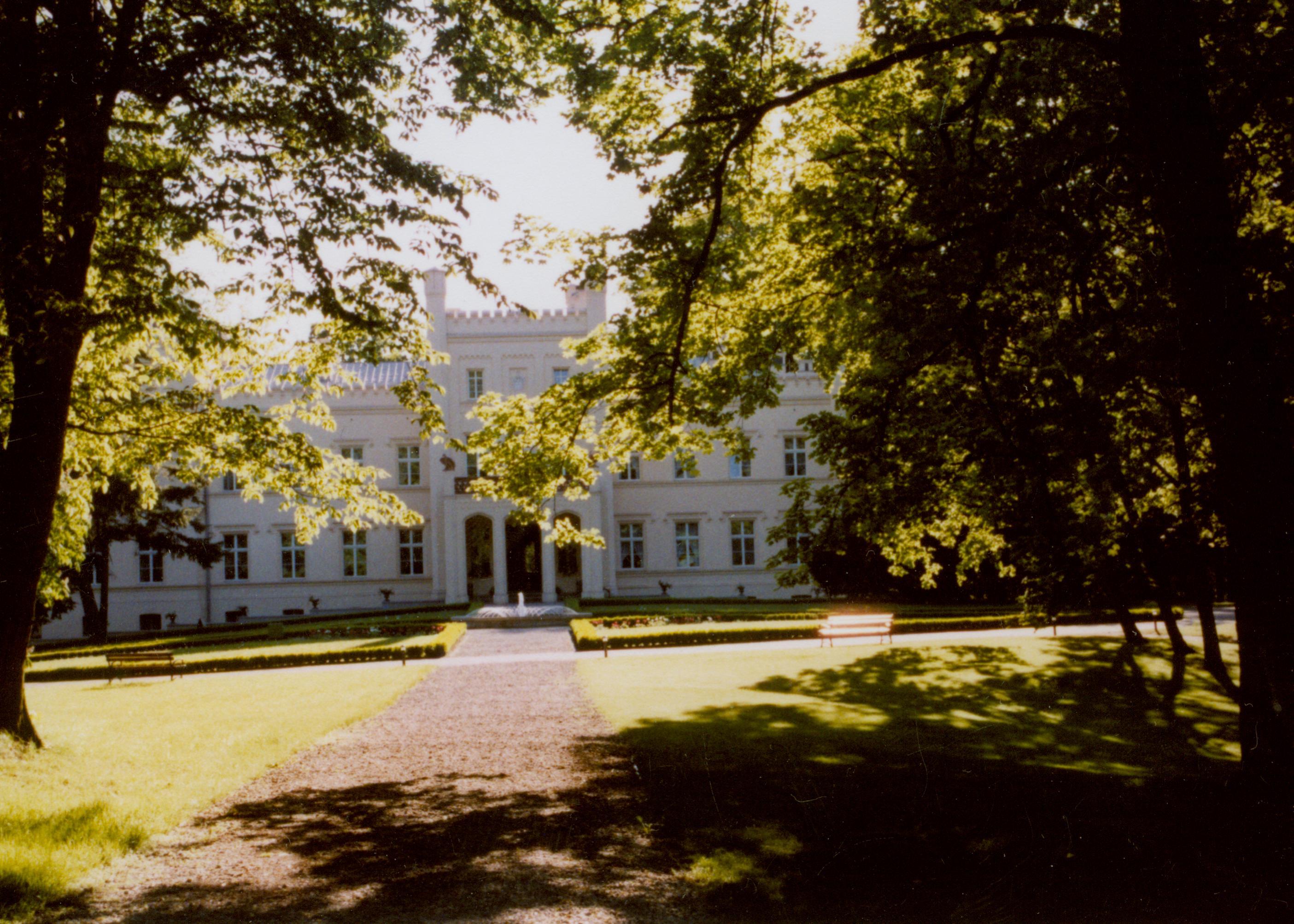 Mierzęcin- widok pałacu od frontu