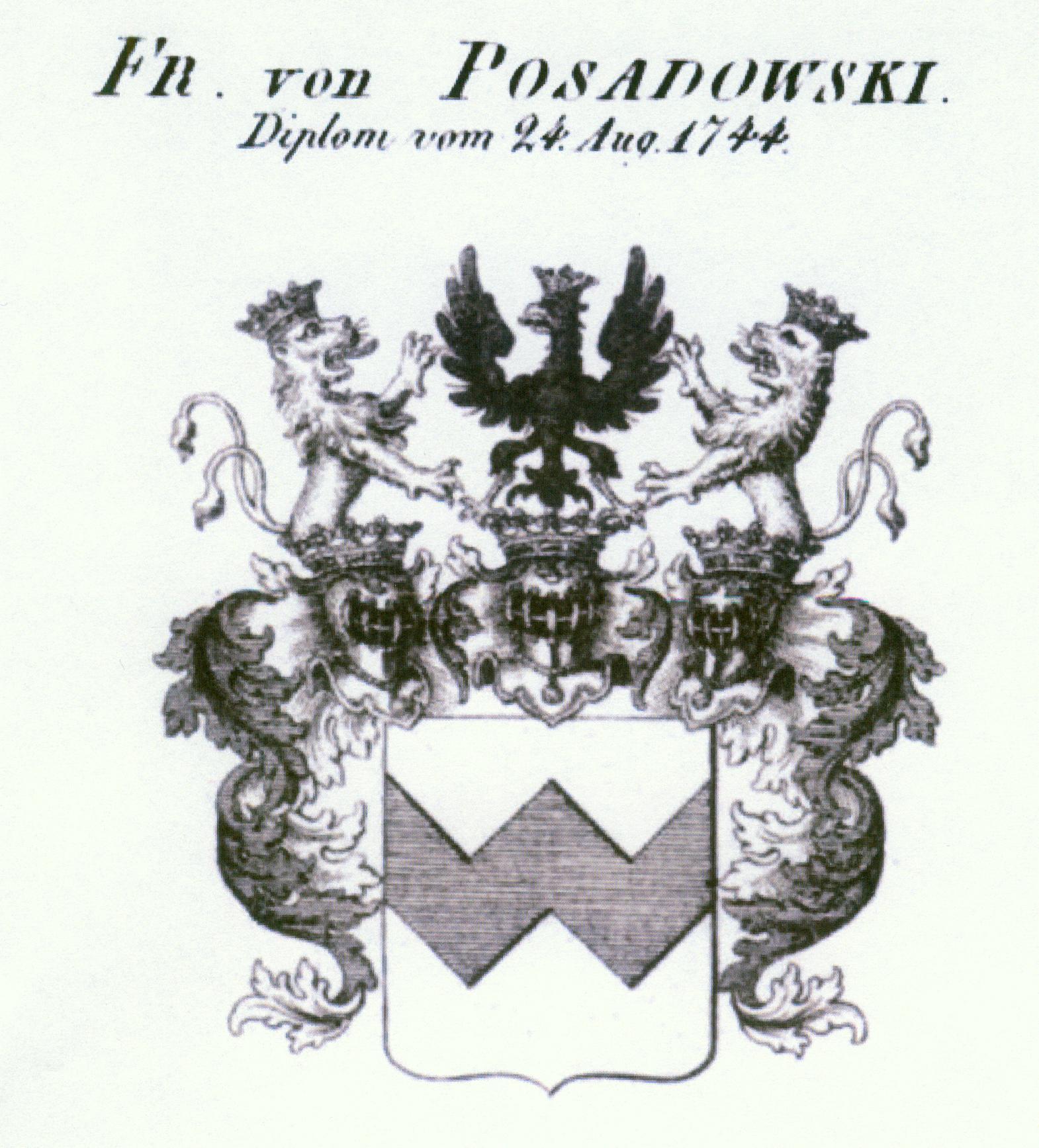 Posadowsky herb baronowski 1744 II