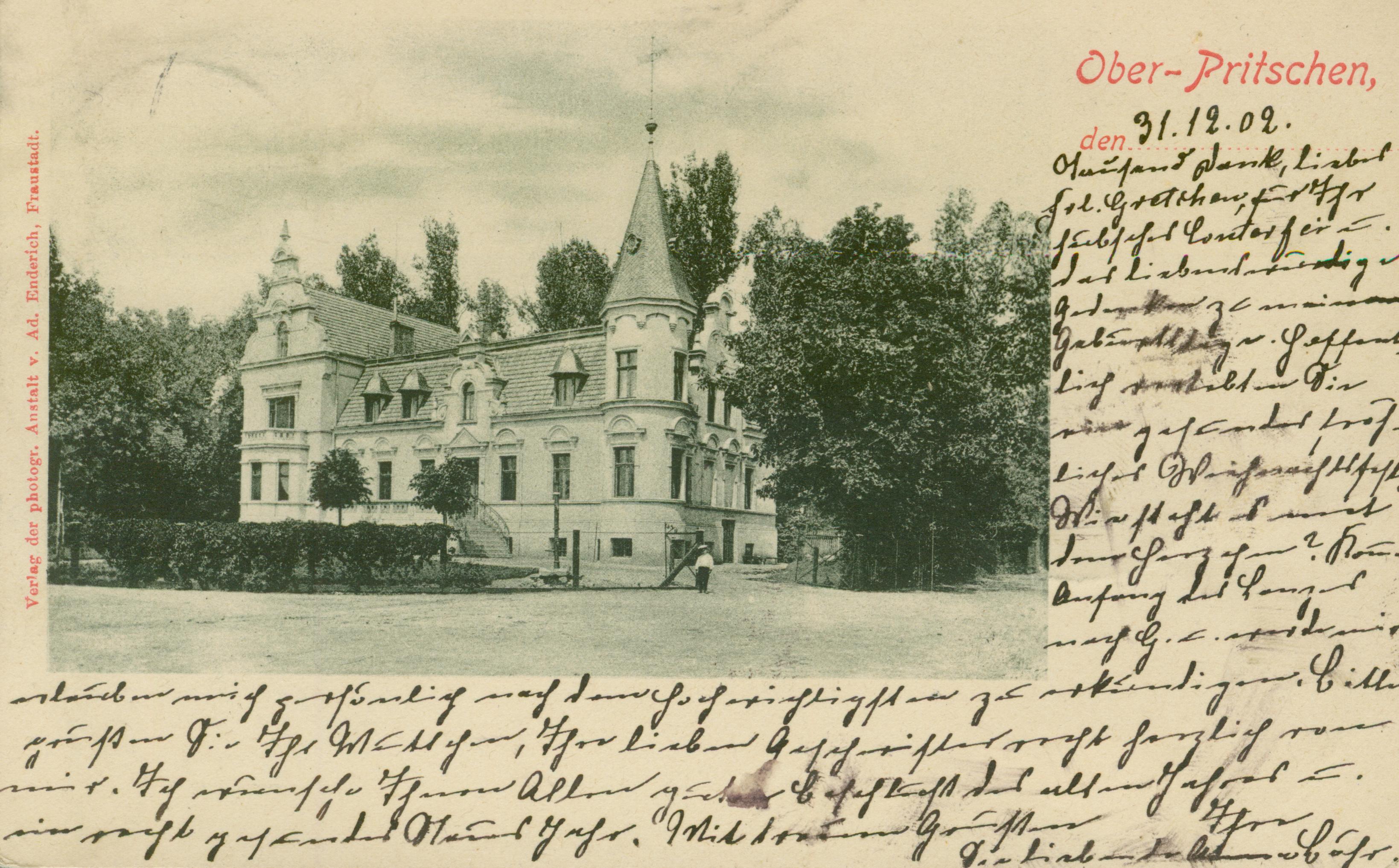 Przyczyna Górna- pałac, ok. Wschowy