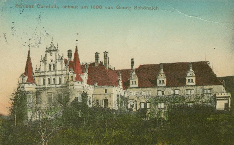 Siedlisko-zamek od strony Odry