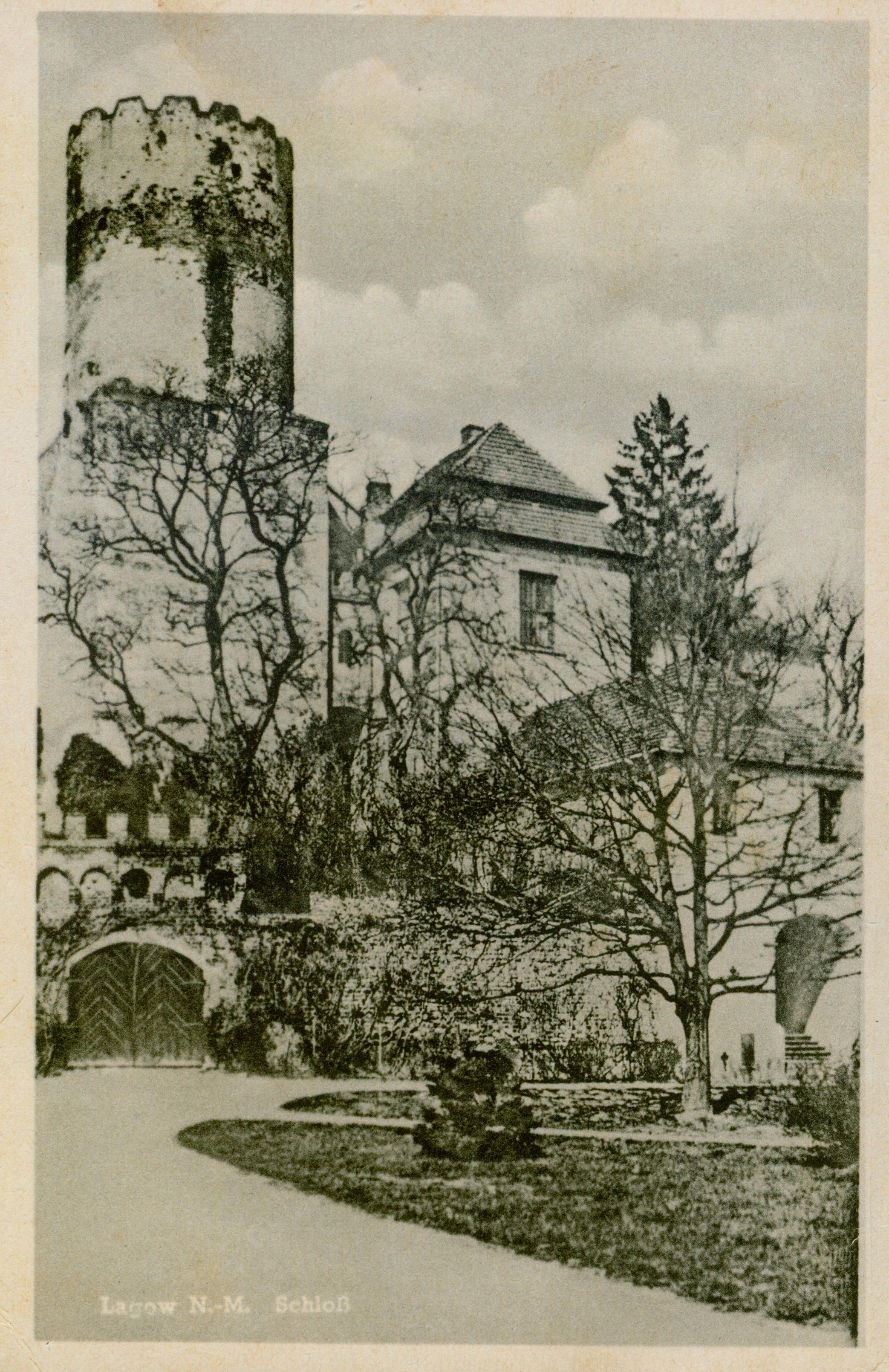 Łagów zamek z bramą