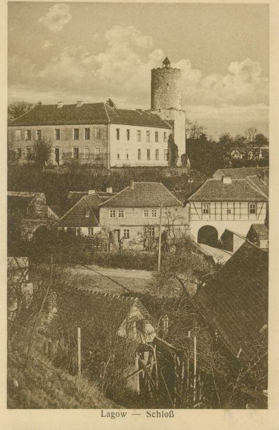 Łagow- zamek od strony bramy marchijskiej
