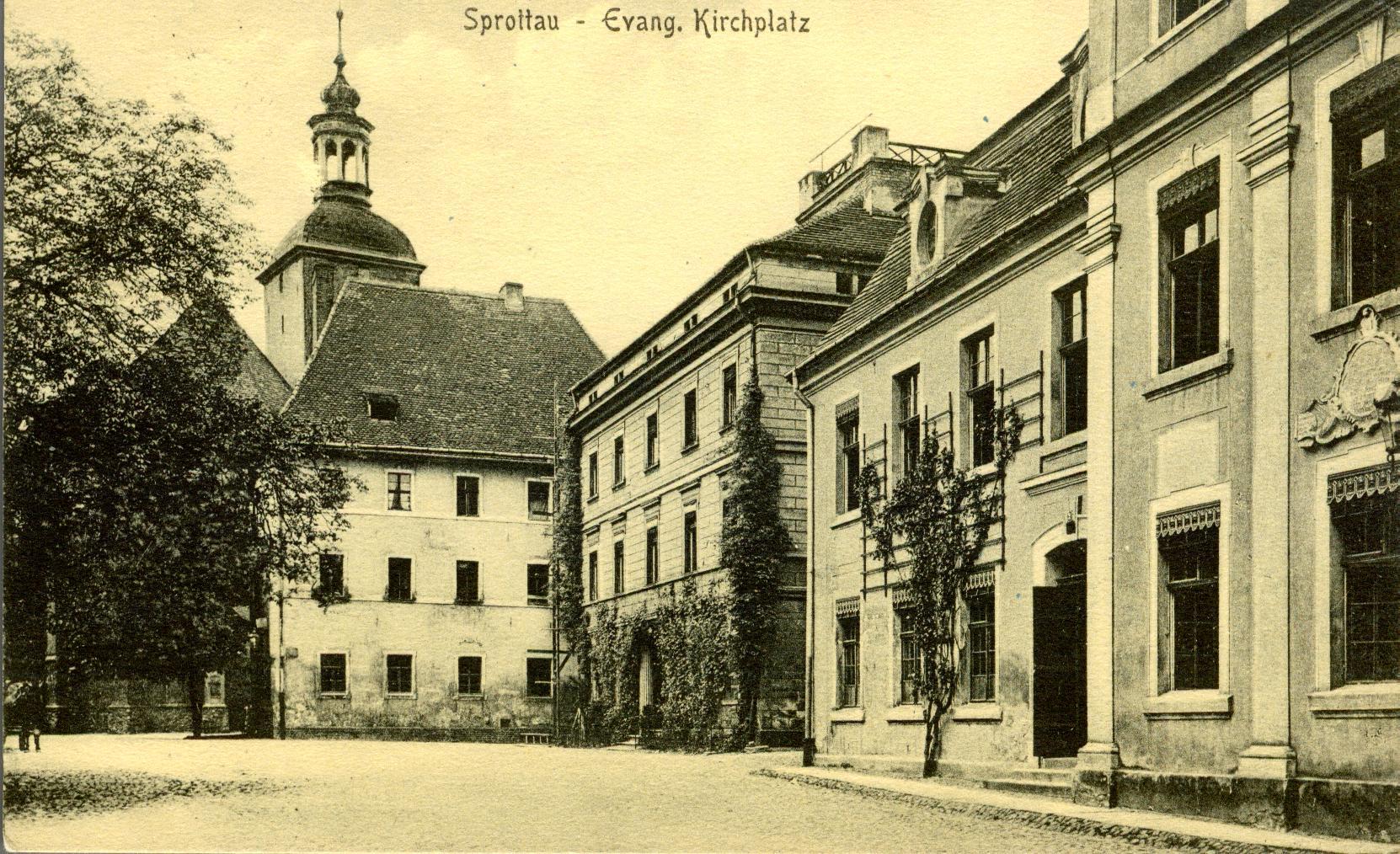 Szprotawa-kościół i pozostałości zamku