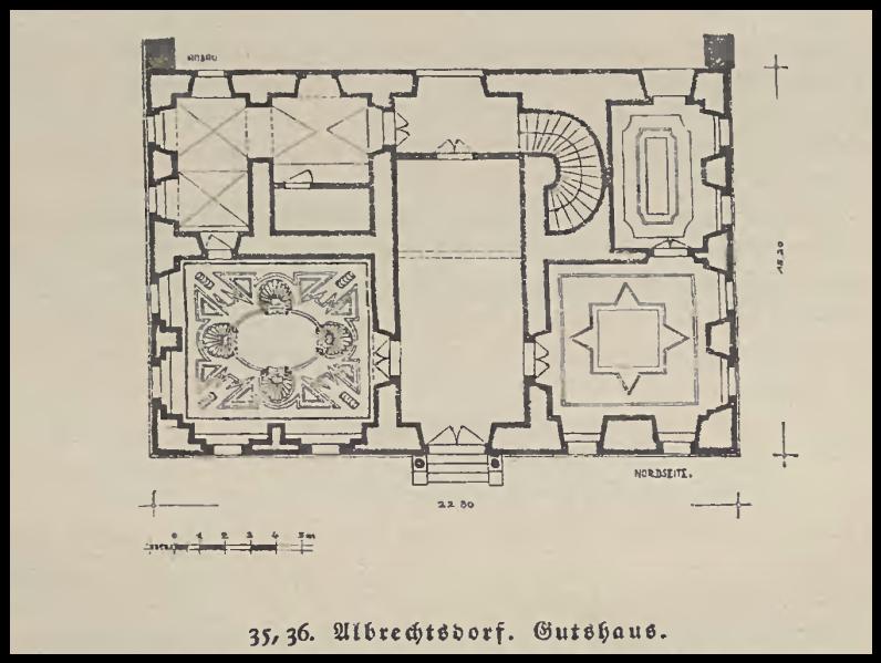 Olbrachtów plan pałacu,