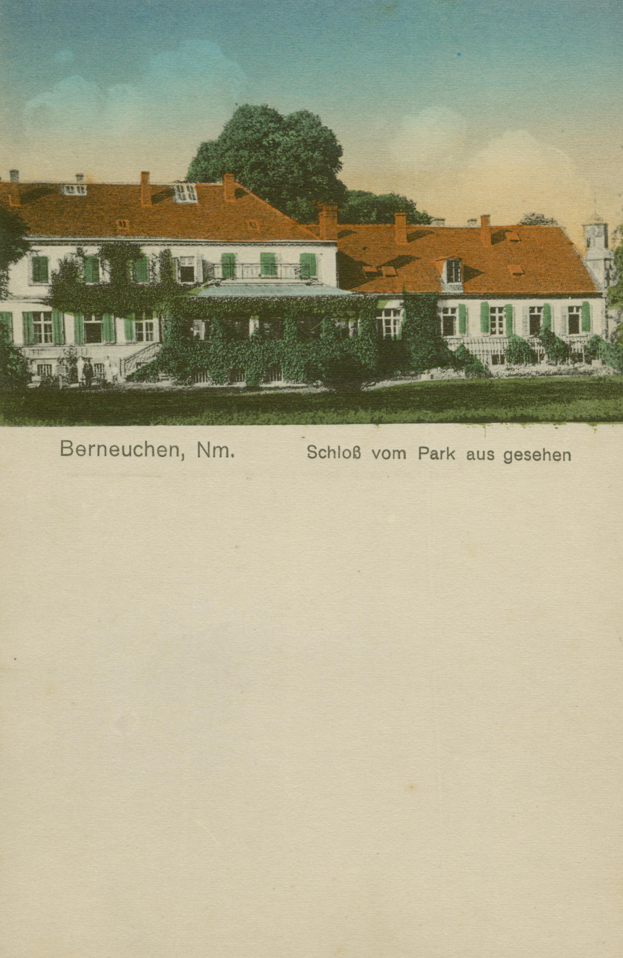 Barnówko- pałac od strony parku