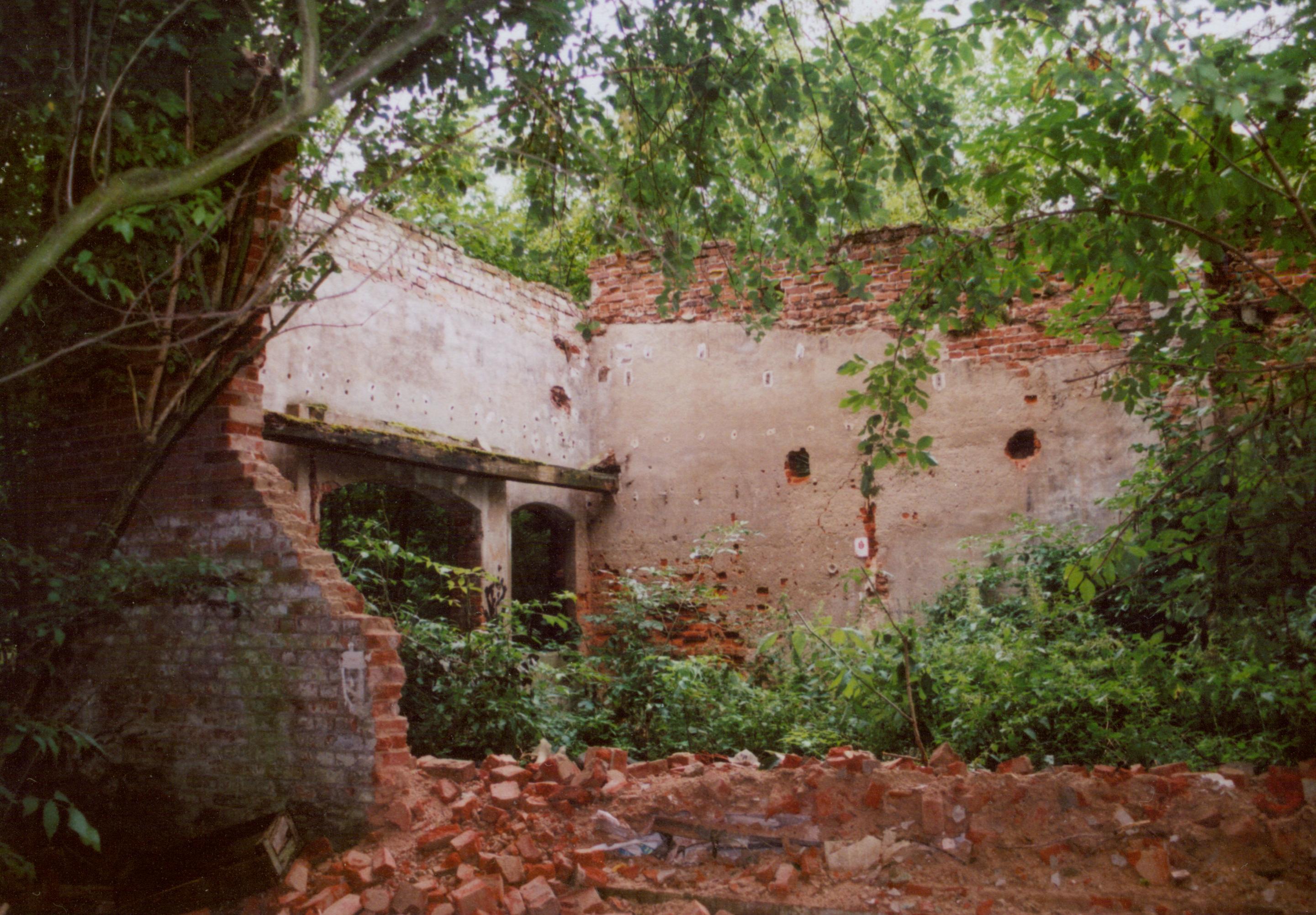 Samlino sierpień 2008 - ruina dworu w stylu willu włoskiej