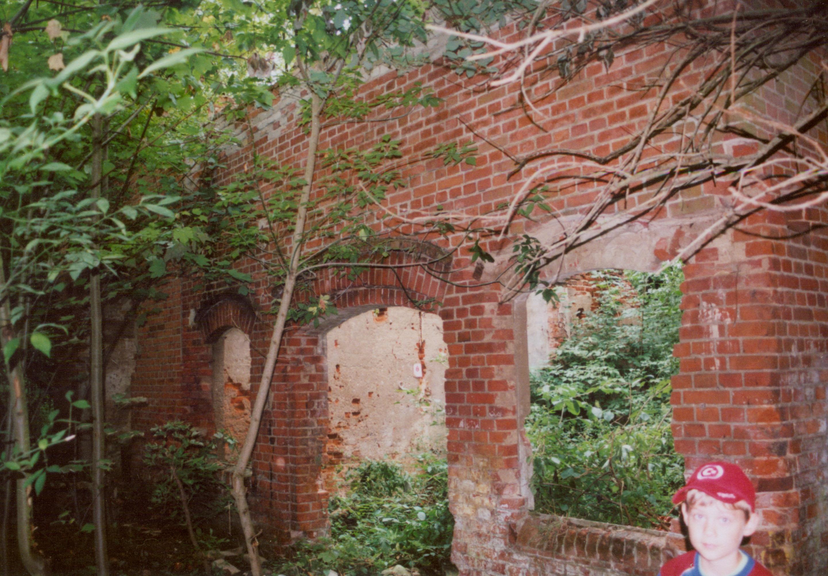 Samlino sierpień 2008- ruina dworu w stylu willu włoskiej001