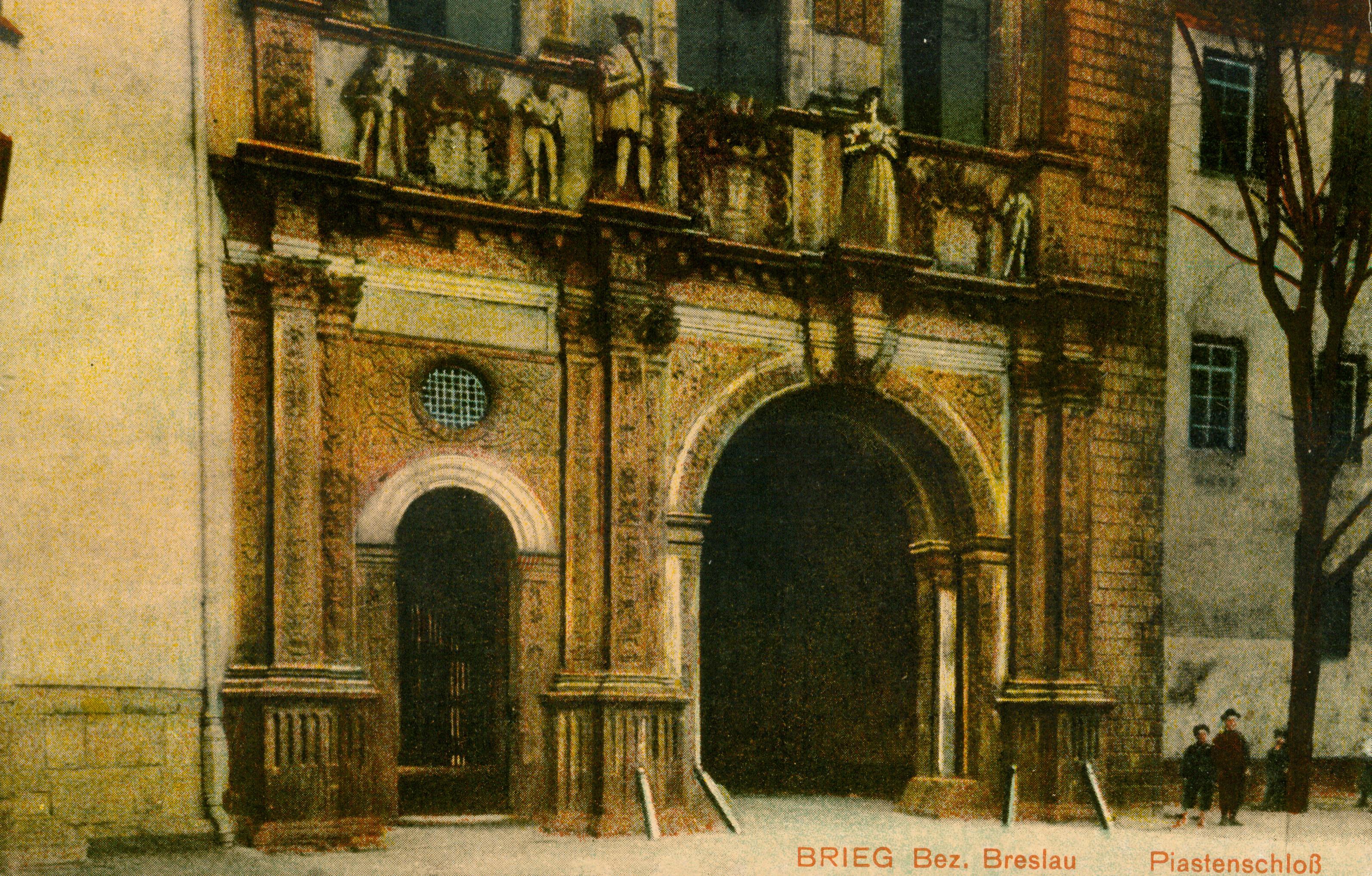 Brzeg-portal zamku, opolskie
