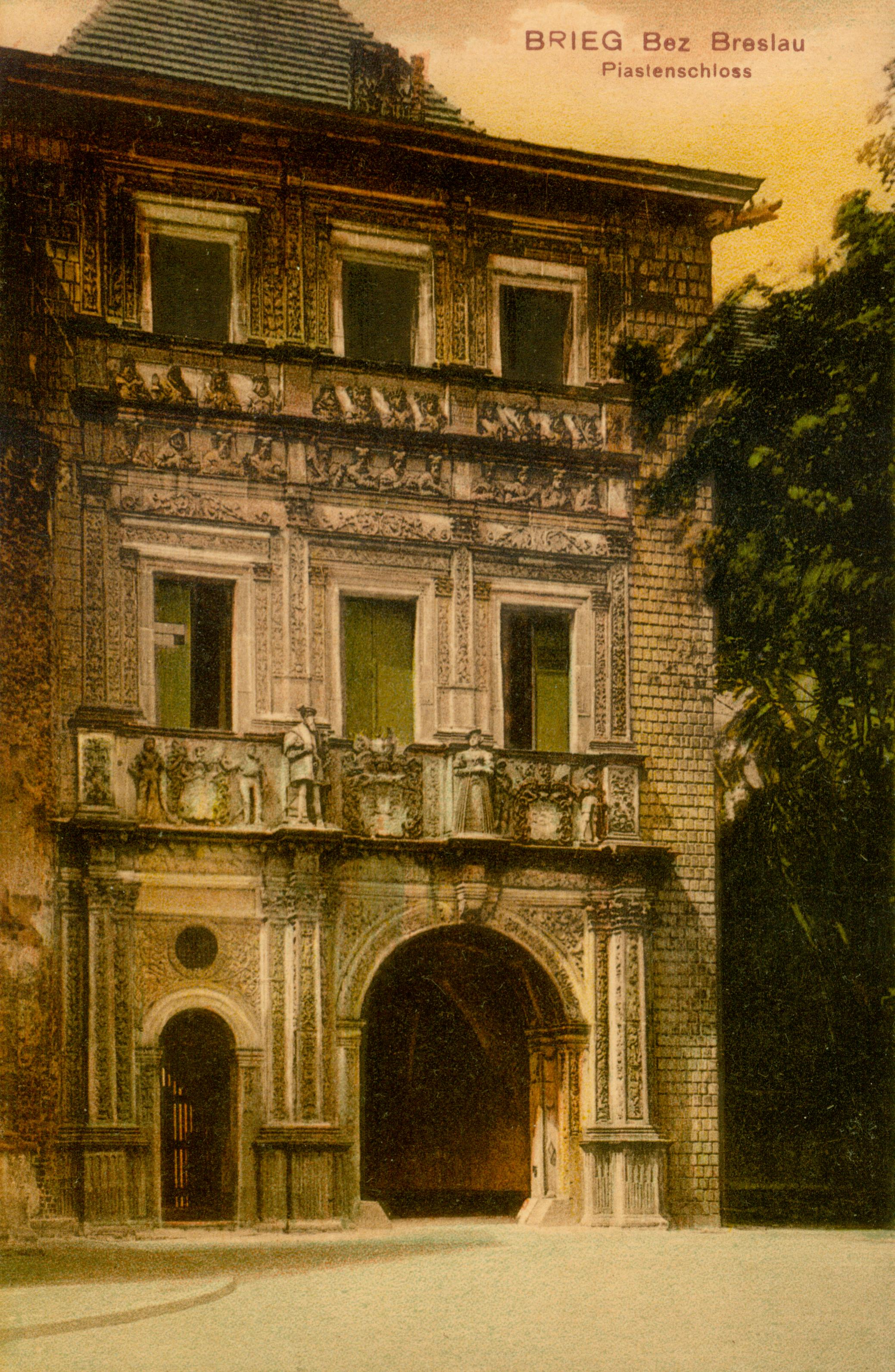 Brzeg- wejście do zamku, opolskie