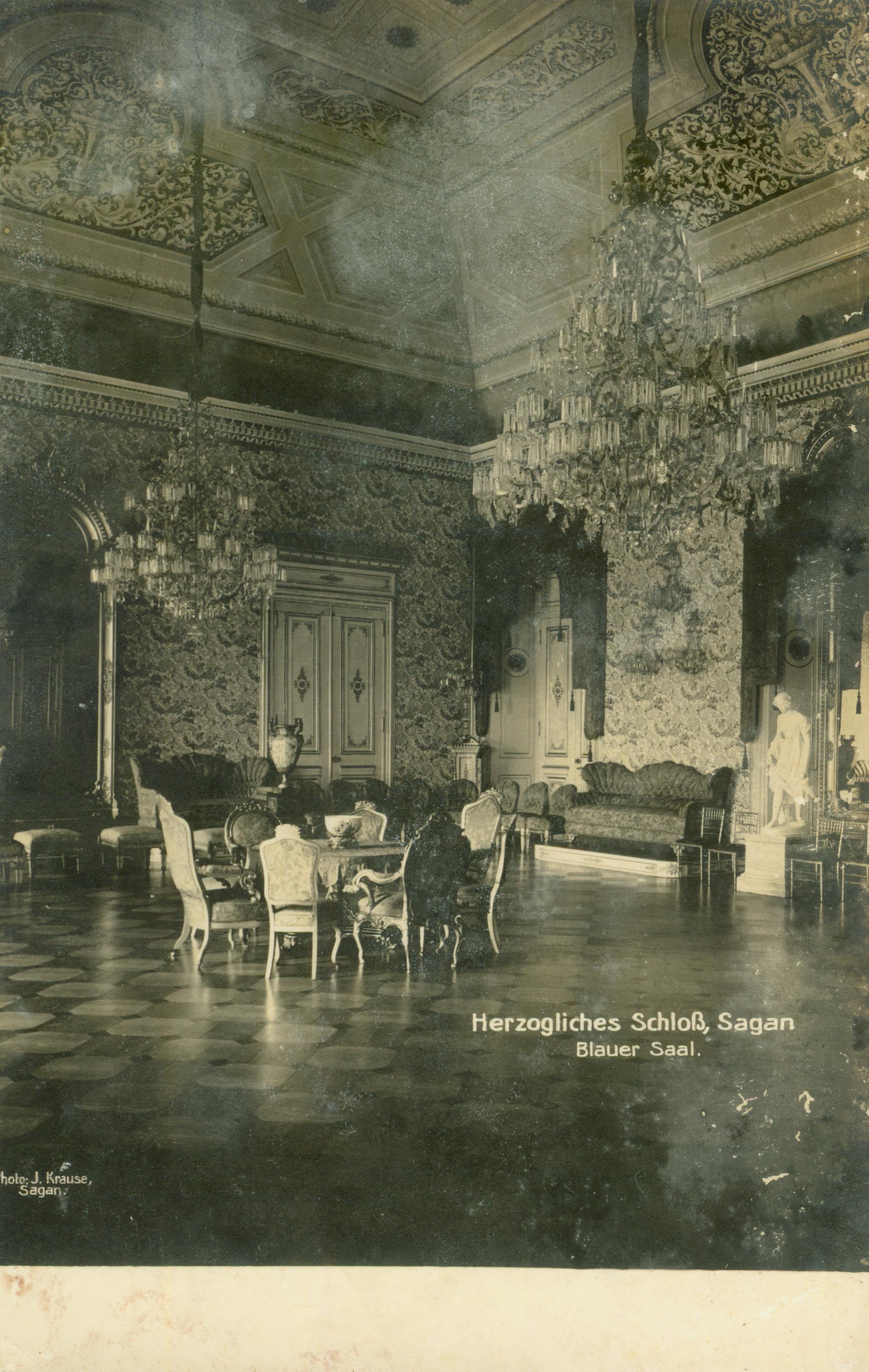 Żagań- pałac- sala niebieska