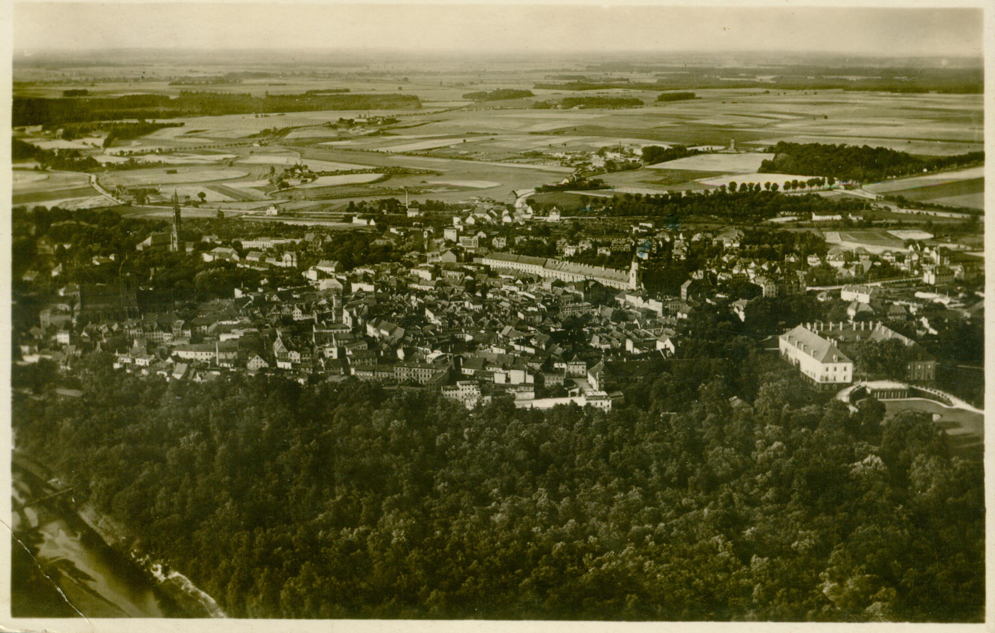 Żagań- widok na miasto i zamek