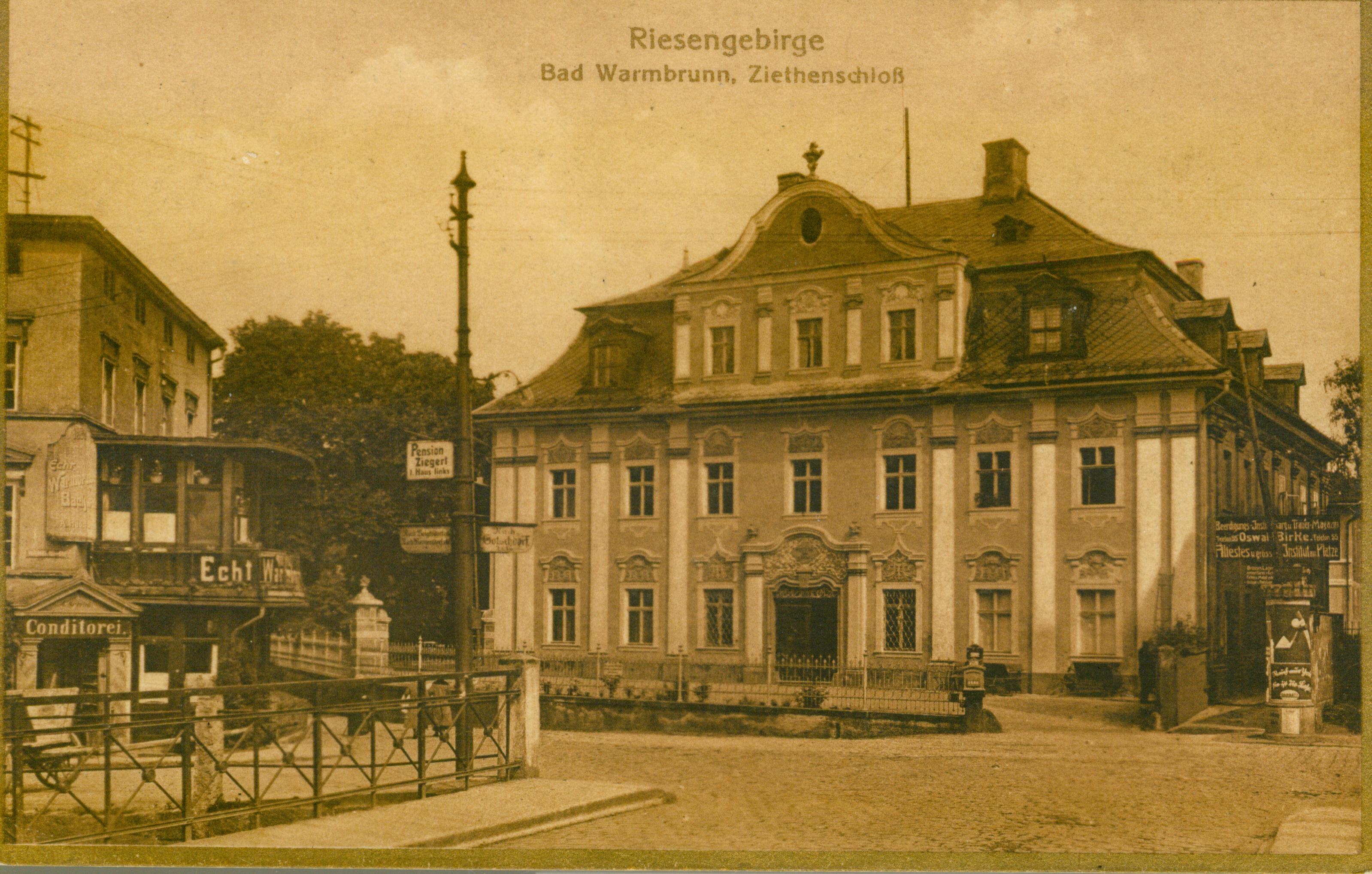 Cieplice- pałac Ziethena, dolnosląskie