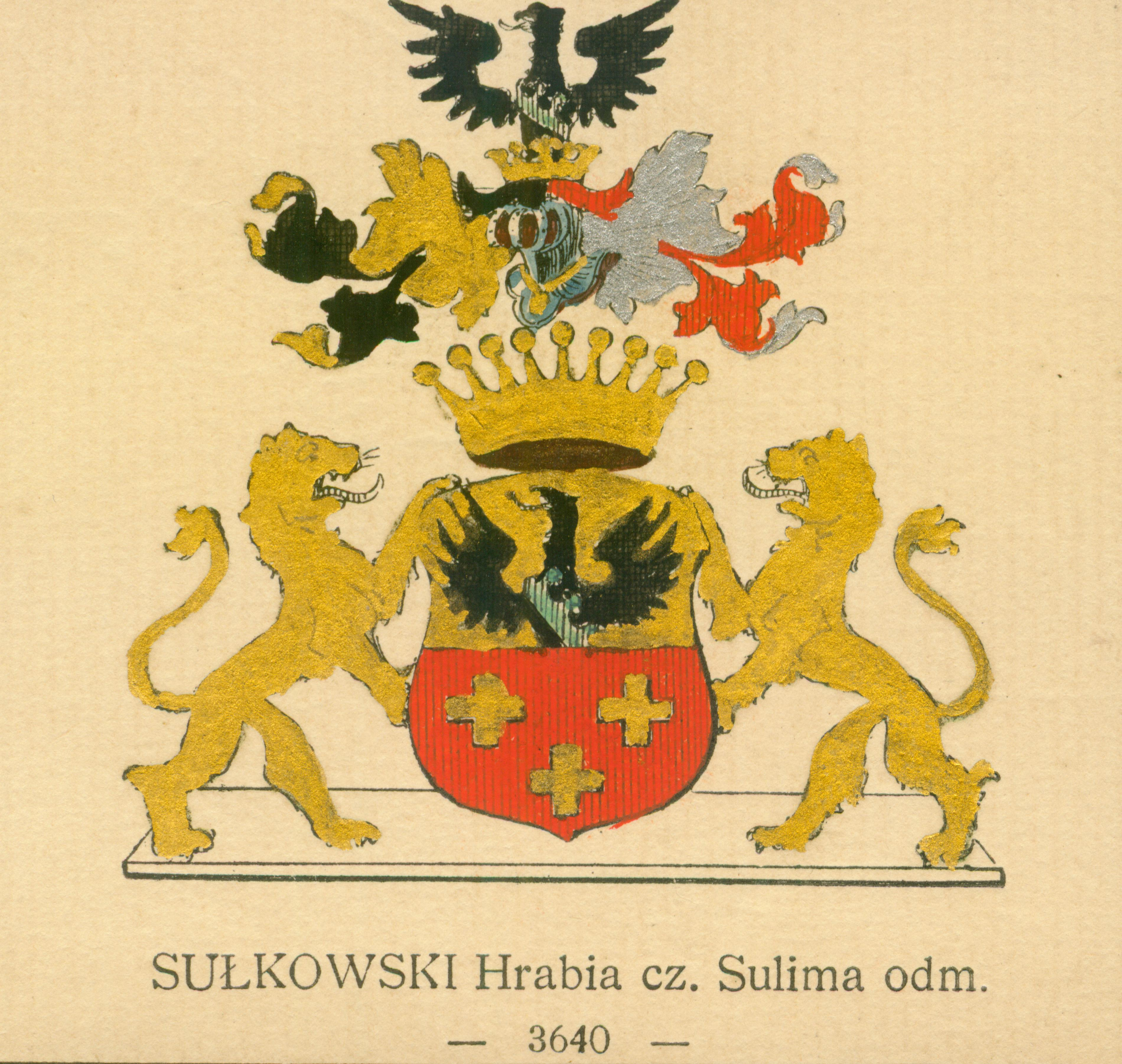 Sułkowski Hrabia cz.Sulima odm.