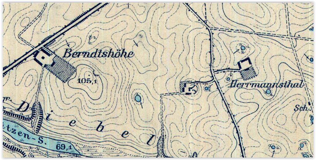 Pfarvorwerk-Wierzchno 1891-2, zachodniopomorskie